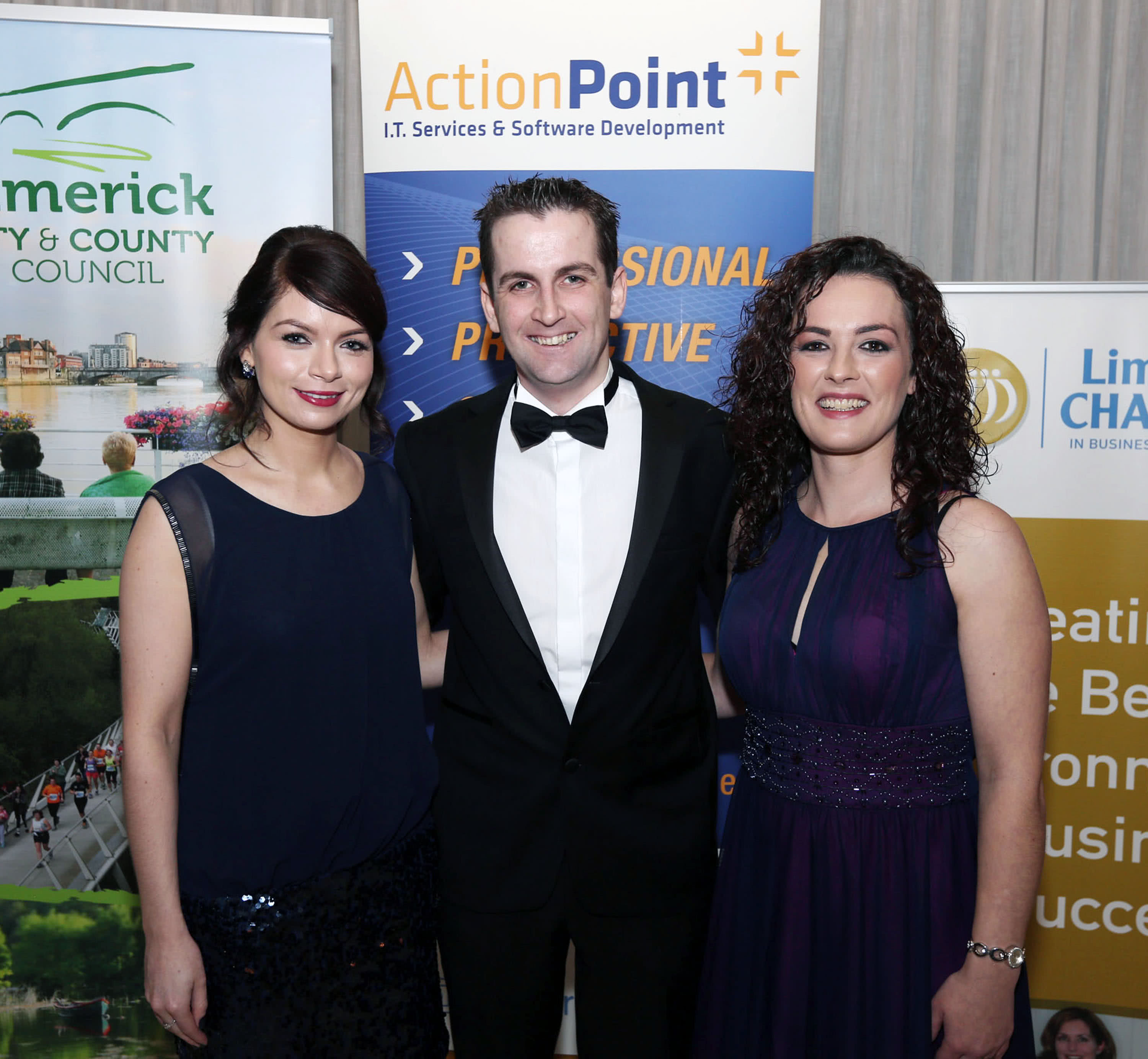 Miriam O'Brien, Marketing Manager, John Savage, Technical Director, Michelle Leo, Head of IT Services, Action Point