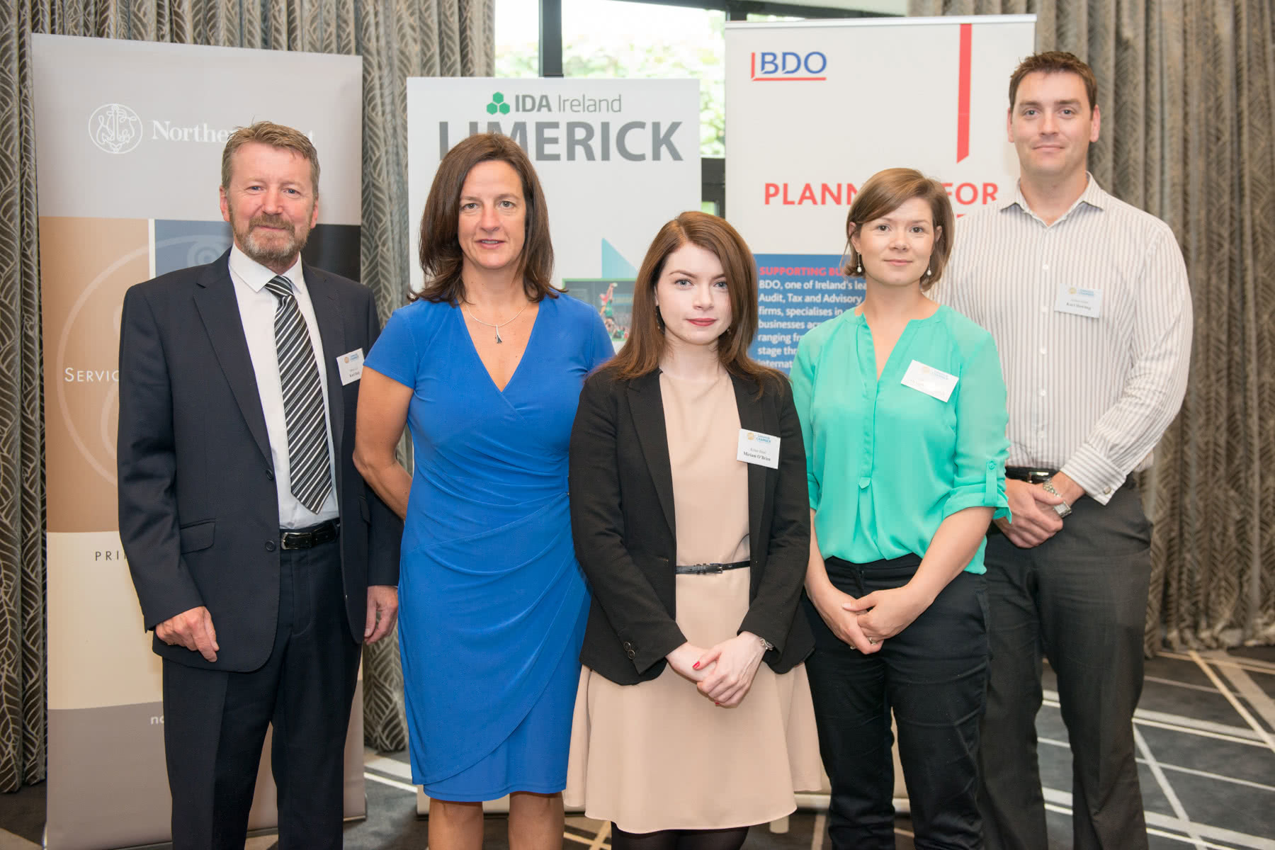 from left to right: Karl Daly, Metis Life, Mary Shine, University of Limerick , Miriam O'Brien, Action Point, Órlaith Borthwick, Limerick Chamber, Karl Dowling, Action Point